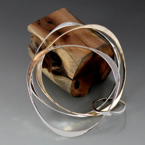 Sterling Silver Square and Triangle Shape Bracelet - JACK BOYD ART STUDIO and RON BOYD DESIGNS