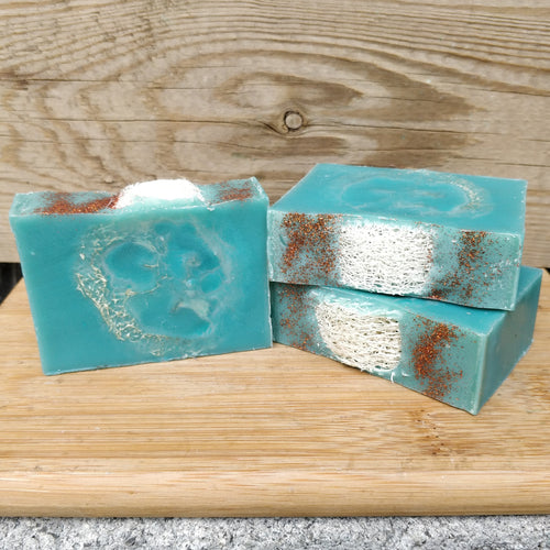 Tropical Vacation Exfoliating Bar with Loofah Embeds