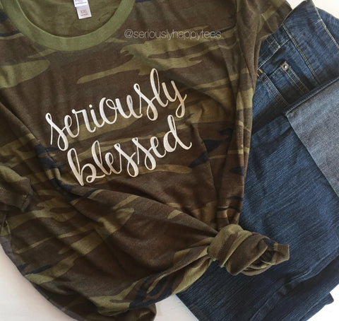 Seriously Blessed Camo Tee