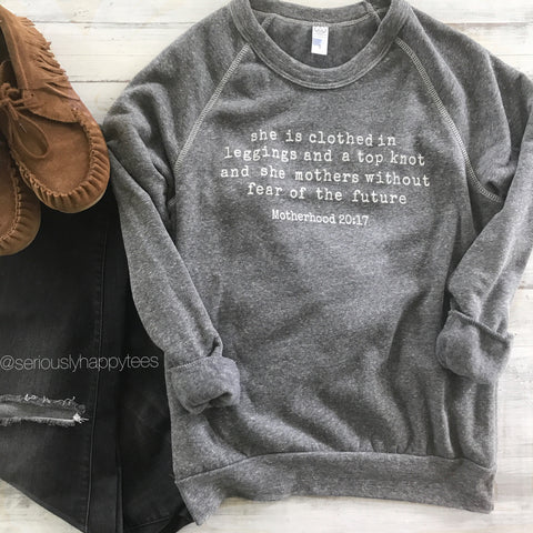 Motherhood 20:17 Unisex Champ Fleece Sweatshirt