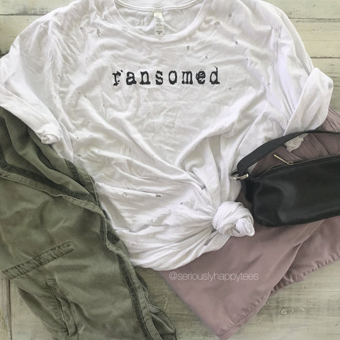 Ransomed Unisex Distressed Tee