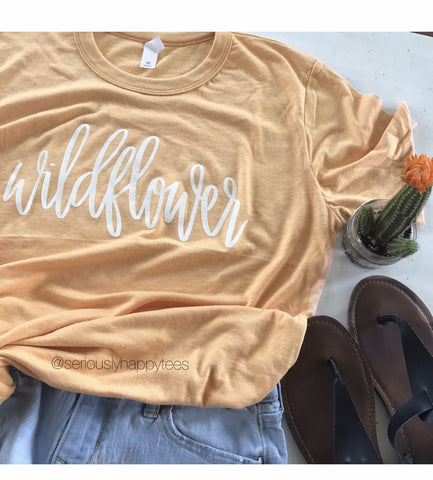 Wildflower Unisex Fit Crew Neck Tee