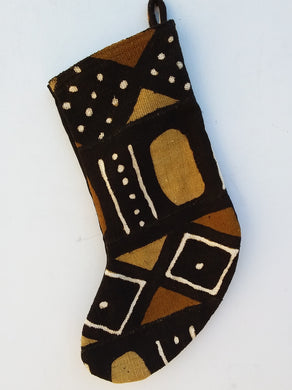 Mudcloth Holiday Stocking - TheAfroChicBoutique