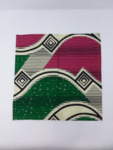 Pink Green and White Napkin