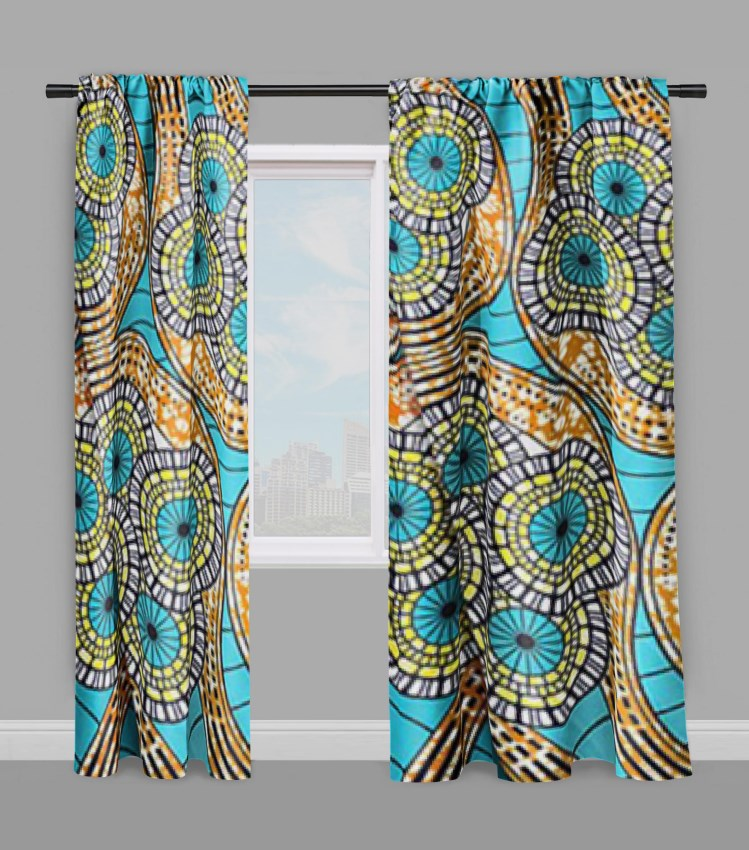 African Waxprint Window Curtains - TheAfroChicBoutique