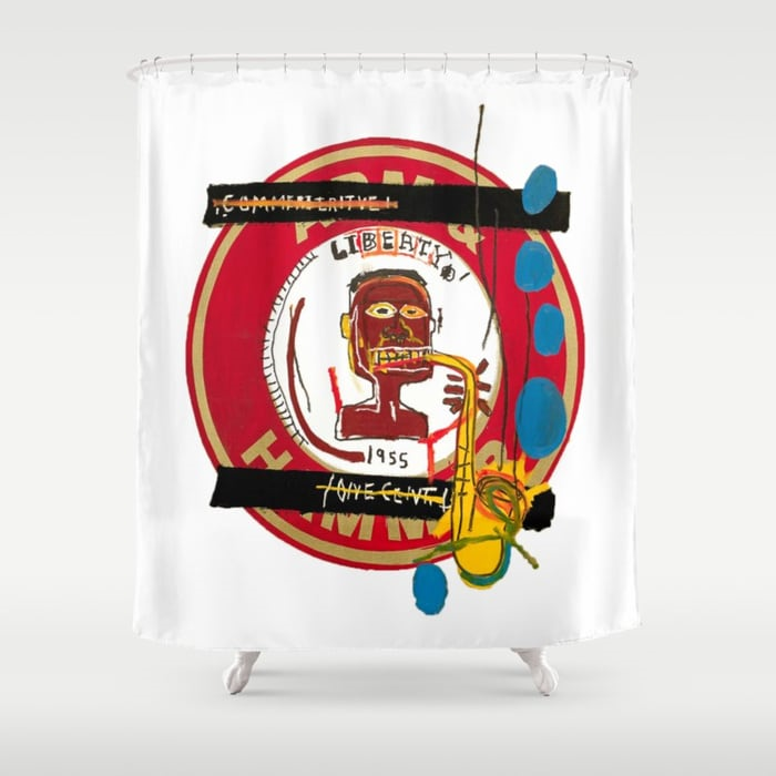 Basquiat Shower Curtain TheAfroChicBoutique