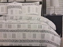 White and Black Mudcloth Comforter