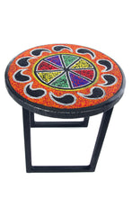 "12"" Beaded Rainbow Plant Stand-Paisley"