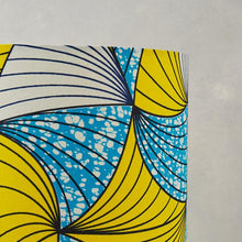 Yellow Blue and White Waxprint Lampshade