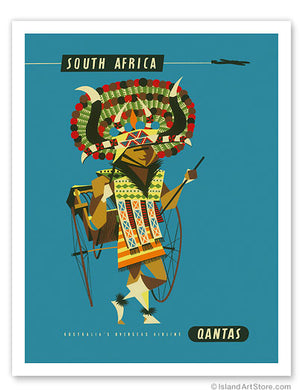 Vintage African Travel Poster - TheAfroChicBoutique