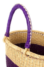 Purple Block Bolga Shopping Basket