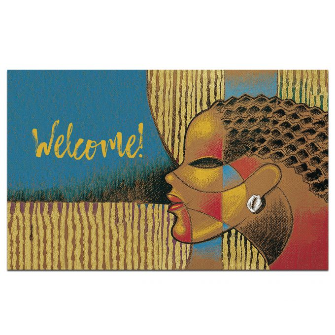 COMPOSITE OF A WOMAN- WELCOME FLOOR MAT