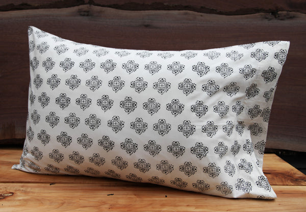 Suzani Flower Small<br>Colour Ebony<br>Pillow Cases