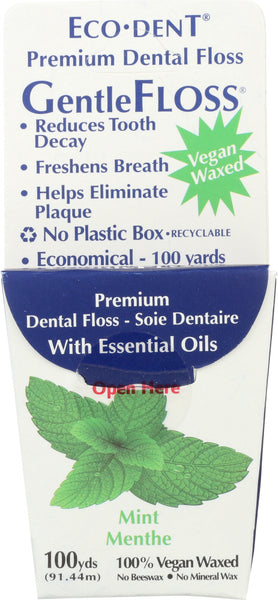 ECO DENT: GentleFloss Premium Dental Floss Mint 100 Yards, 1 ea - Go Steampunk