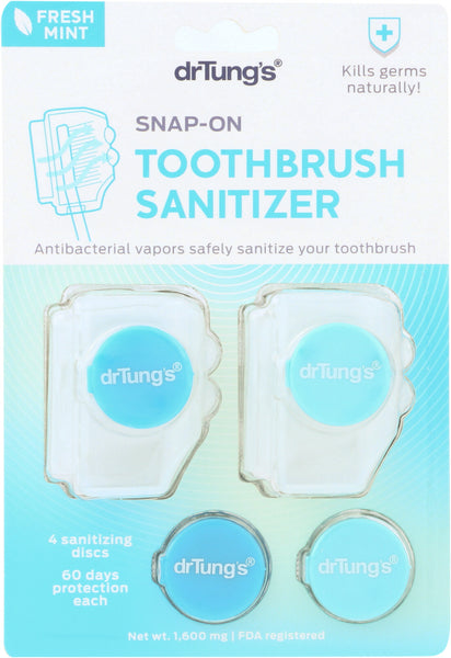 DR TUNGS: Snap-On Toothbrush Sanitizer, 2 pc