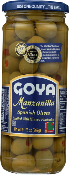 GOYA: Manzanilla Stuffed Spanish Olive, 9.5 oz