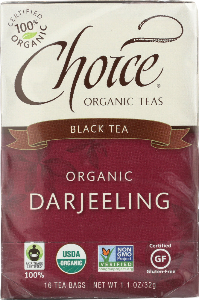 CHOICE TEA: Organic Tea Darjeeling Fair Trade Certified, 16 bg