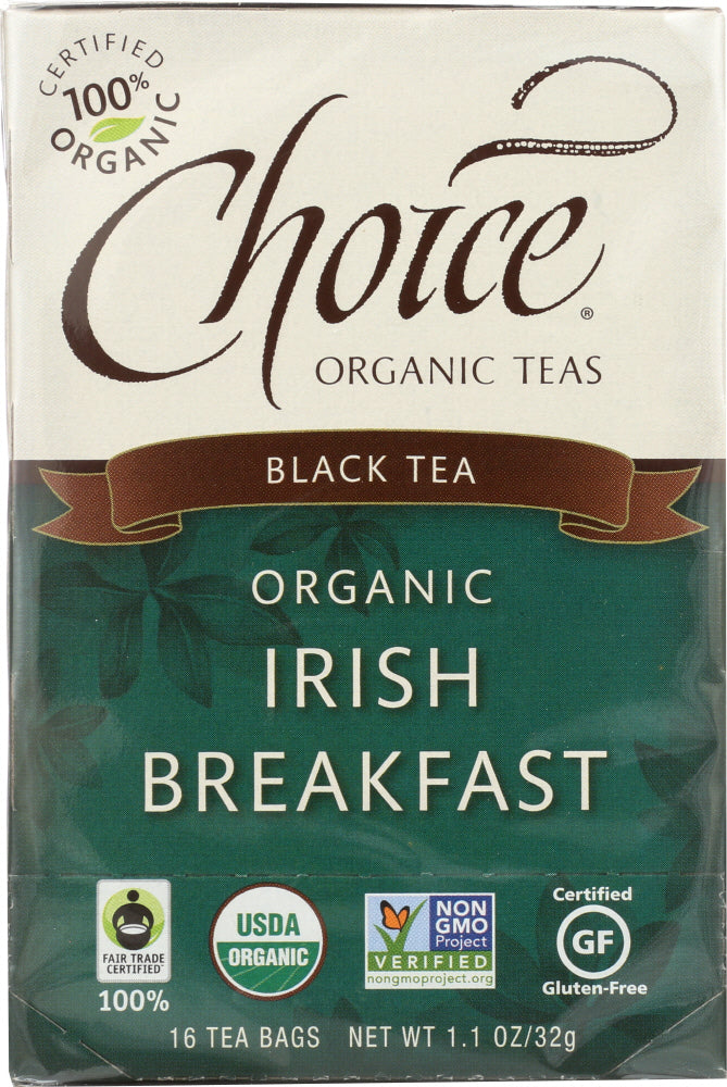 CHOICE TEA: Organic Irish Breakfast Tea, 16 bg