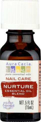 AURA CACIA: Essential Oil Nail Care Nurture 0.5 oz
