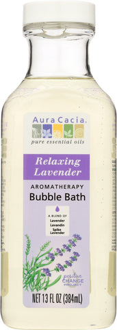 AURA CACIA: Aromatherapy Bubble Bath Relaxing Lavender, 13 oz