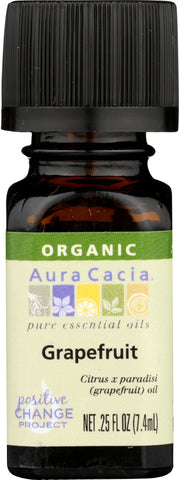 AURA CACIA: Organic Grapefruit Essential Oil, 0.25 oz - Go Steampunk