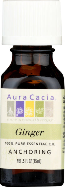AURA CACIA: 100% Pure Essential Oil Ginger, 0.5 Oz - Go Steampunk