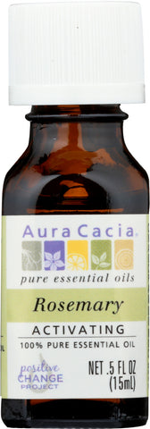 AURA CACIA: 100% Pure Essential Oil Rosemary, 0.5 Oz - Go Steampunk
