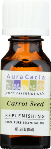 AURA CACIA: 100% Pure Essential Oil Carrot Seed, 0.5 Oz - Go Steampunk