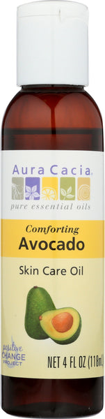 AURA CACIA: Oil Skin Care Avocado 4 oz - Go Steampunk