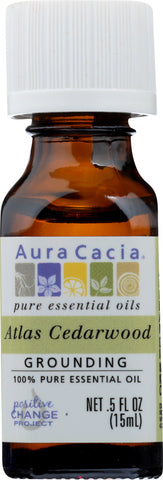 AURA CACIA: Oil Essential Cedarwood Atlas 0.5 oz - Go Steampunk