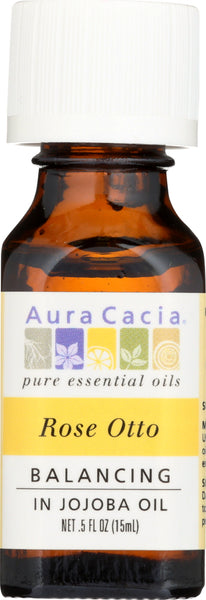 AURA CACIA: Rose Otto in Jojoba Oil, 0.5 oz - Go Steampunk