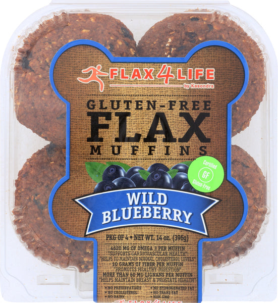 FLAX4LIFE: Wild Blueberry Flax Muffins, 14 oz