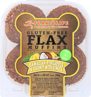 FLAX4LIFE: Frozen Hawaiian Pineapple and Coconut with Ginger Flax Muffins, 14 oz