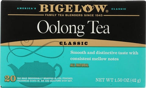 BIGELOW: Oolong Tea Classic 20 Tea Bags, 1.50 oz