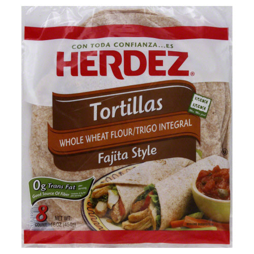 HERDEZ: Tortilla Whole Wheat, 16 oz