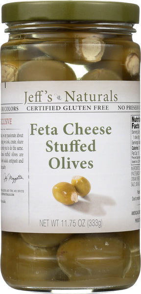 JEFFS GARDEN: Feta Cheese Stuffed Olive, 11.75 oz - Go Steampunk