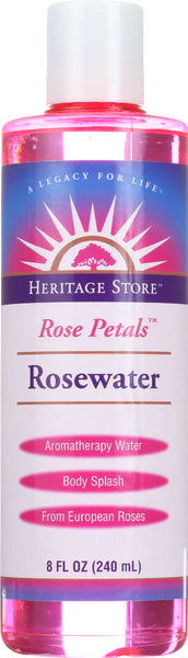 HERITAGE: Rose Petals Rosewater, 8 Oz - Go Steampunk