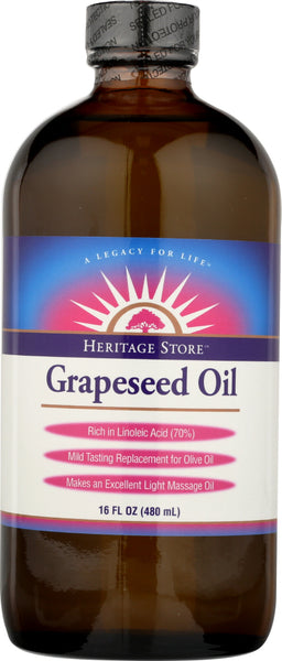 HERITAGE: Oil Grapeseed, 16 oz