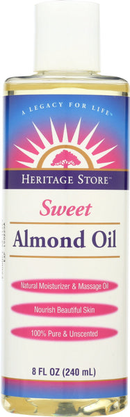 HERITAGE: Oil Sweet Almond, 8 oz