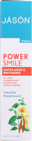 JASON: Toothpaste Powersmile Vanilla Mint. 6 oz
