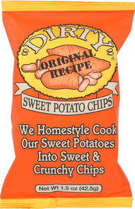 DIRTY POTATO CHIP: Chips Sweet Potato Sea Salted, 1.5 oz