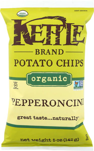 KETTLE FOODS: Pepperoncini Organic Potato Chips, 5 oz