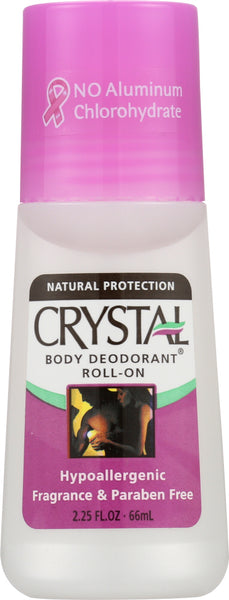 CRYSTAL BODY DEODORANT: Roll-On Fragrance Free, 2.25 oz - Go Steampunk