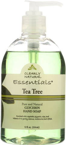 CLEARLY NATURAL: Liquid Glycerin Hand Soap Tea Tree, 12 oz