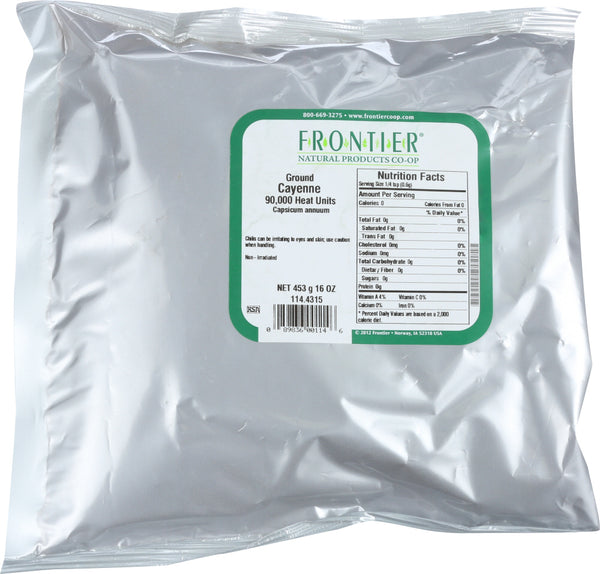FRONTIER NATURAL PRODUCTS: Ground Cayenne 90000 Heat Units, 16 oz