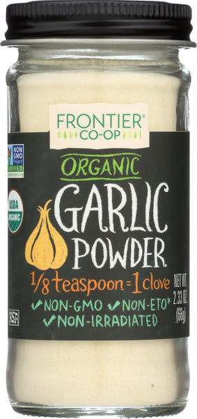 FRONTIER NATURAL PRODUCTS: Organic Garlic Powder, 2.33 oz