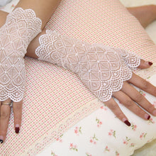 Load image into Gallery viewer, Fingerless Lace Party Gloves - Go Steampunk