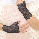 1 Pair Fingerless Lace Party Gloves