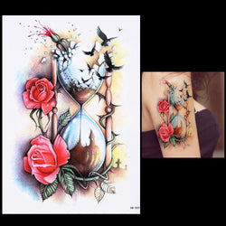 Shattering Time Hourglass and Other Temporary Tattoos