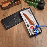 Vintage Feather Quill Fountain Dip Pen With 5 Nibs and a Wax Seal Kit Boxed Set